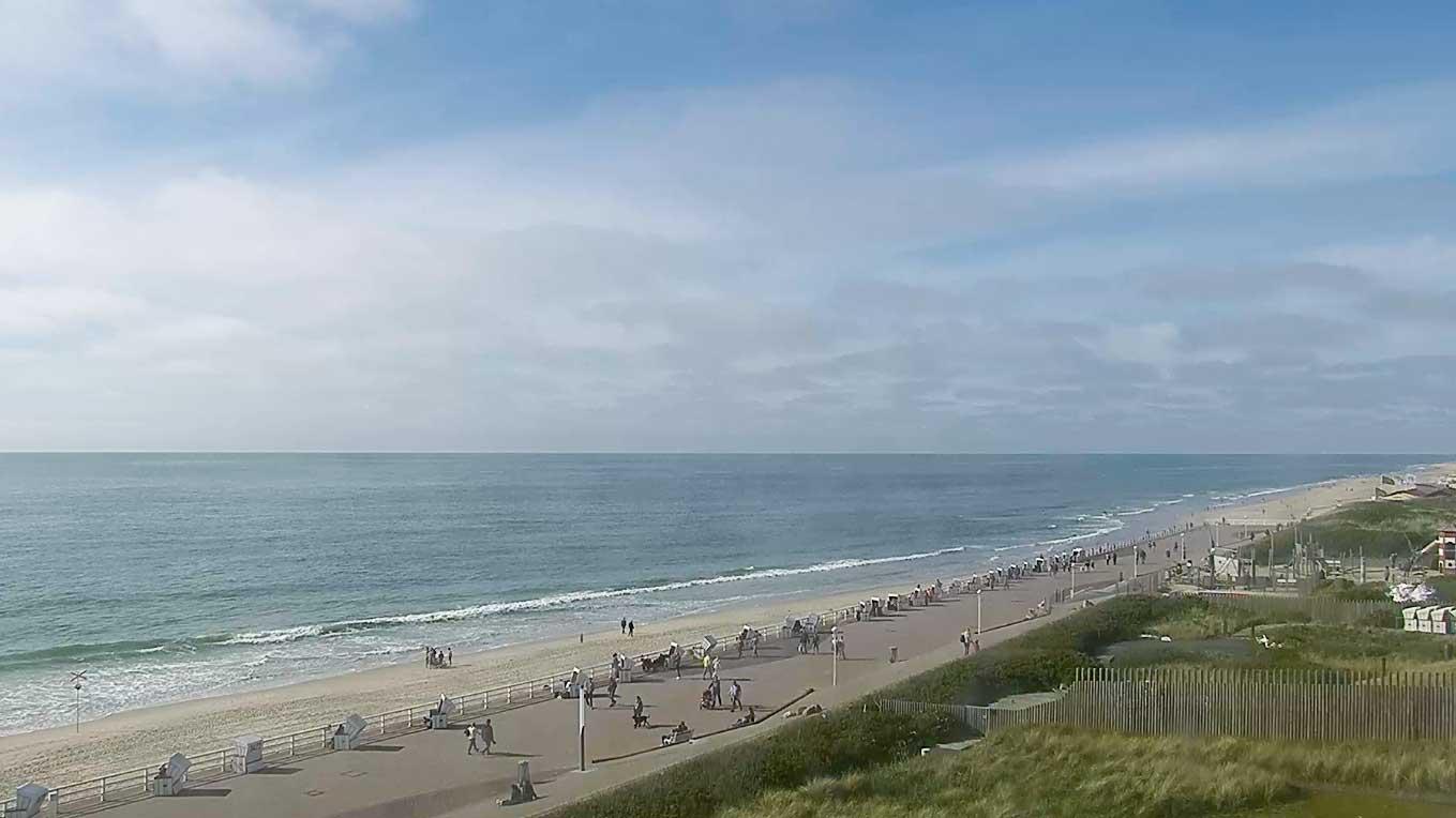 Webcam-Vorschau der Strandpromenade auf Westerland